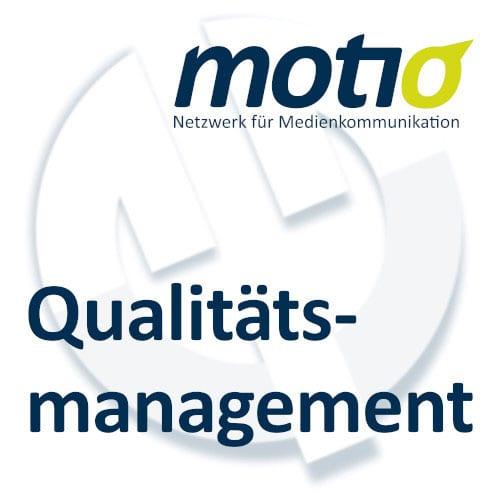 Siegel für Qualitätsmanagement von motio, Netzwerk für Medienkommunikation