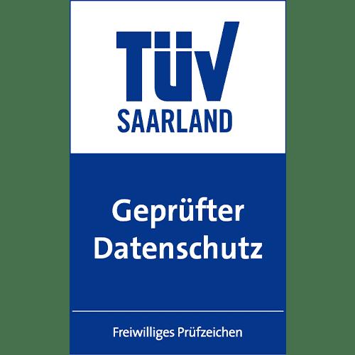 Freiwilliges Prüfzeichen vom TÜV Saarland: Geprüfter Datenschutz